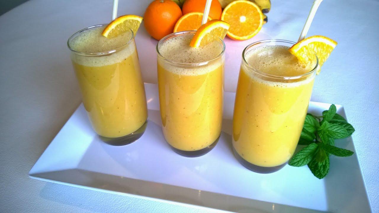 عصير الموز والبرتقال